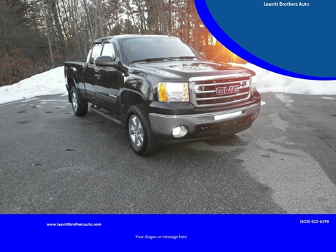2012 GMC Sierra 1500 for sale at Leavitt Brothers Auto in Hooksett NH