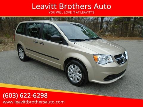 2014 Dodge Grand Caravan for sale at Leavitt Brothers Auto in Hooksett NH