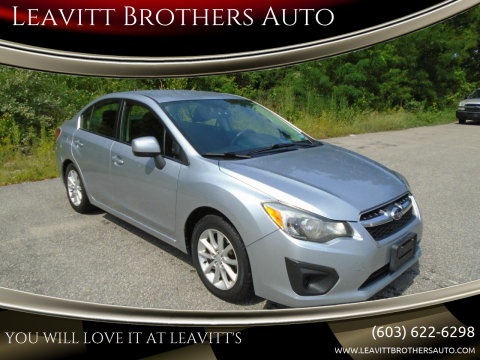 2013 Subaru Impreza for sale at Leavitt Brothers Auto in Hooksett NH