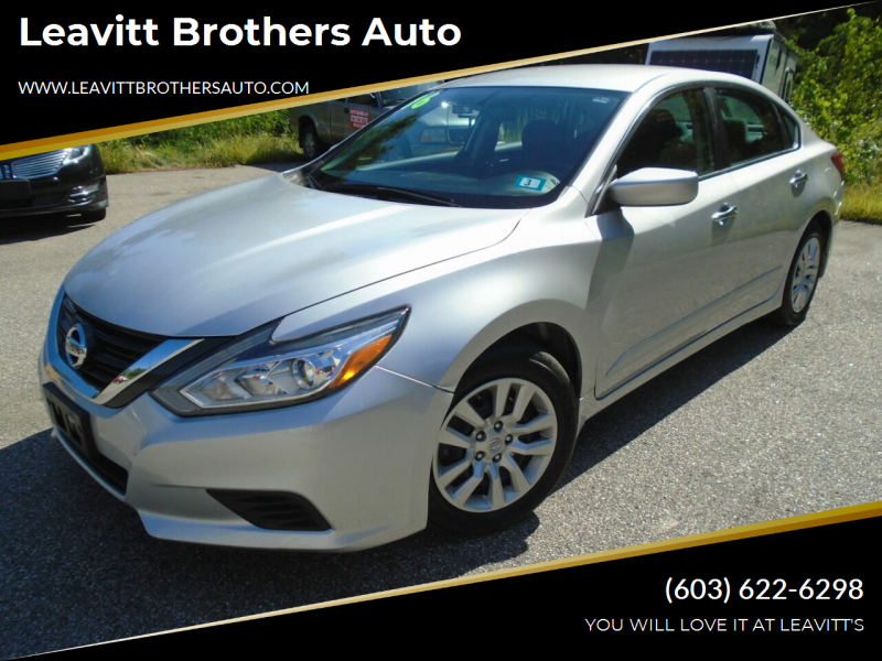 2016 Nissan Altima for sale at Leavitt Brothers Auto in Hooksett NH