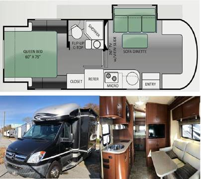 2014 Thor Industries Citation Sprinter 24SR for sale at S & M WHEELESTATE SALES INC - Class C in Princeton NC