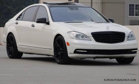 2012 Mercedes-Benz S-Class for sale at Euro Auto Sales in Santa Clara CA