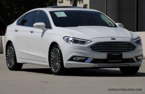 2018 Ford Fusion for sale at Euro Auto Sales in Santa Clara CA