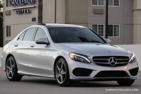 2016 Mercedes-Benz C-Class for sale at Euro Auto Sales in Santa Clara CA