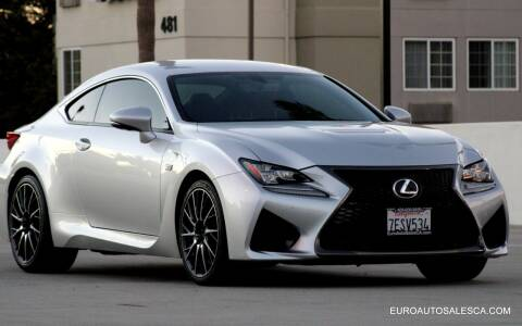 2015 Lexus RC F for sale at Euro Auto Sales in Santa Clara CA