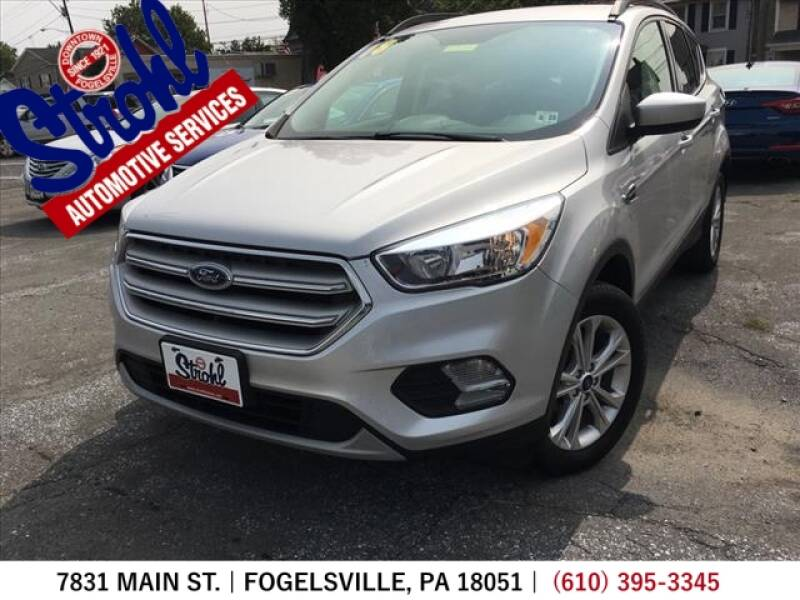2018 Ford Escape for sale at Strohl Automotive Services in Fogelsville PA