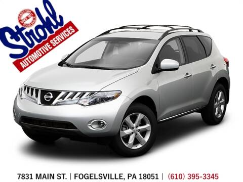 2009 Nissan Murano for sale at Strohl Automotive Services in Fogelsville PA