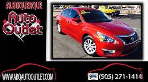 2015 Nissan Altima for sale at ALBUQUERQUE AUTO OUTLET in Albuquerque NM
