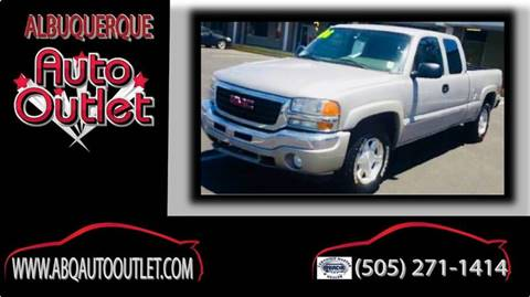 2006 GMC Sierra 1500 for sale at ALBUQUERQUE AUTO OUTLET in Albuquerque NM