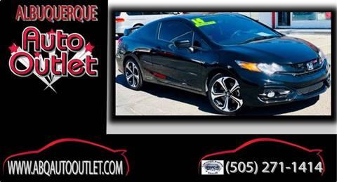 2014 Honda Civic for sale at ALBUQUERQUE AUTO OUTLET in Albuquerque NM