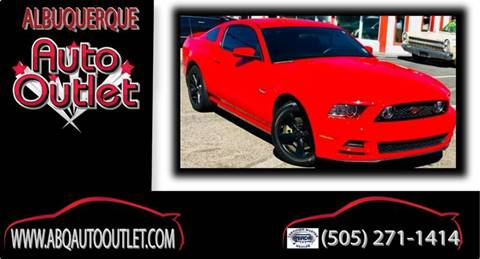 2014 Ford Mustang for sale at ALBUQUERQUE AUTO OUTLET in Albuquerque NM