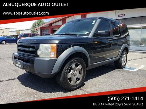 2006 Land Rover LR3 for sale at ALBUQUERQUE AUTO OUTLET in Albuquerque NM