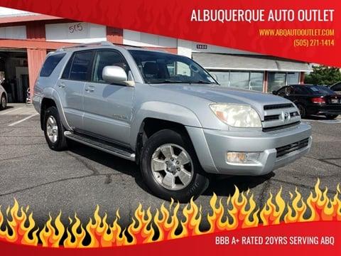 2003 Toyota 4Runner for sale at ALBUQUERQUE AUTO OUTLET in Albuquerque NM