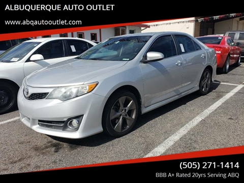 2014 Toyota Camry for sale at ALBUQUERQUE AUTO OUTLET in Albuquerque NM