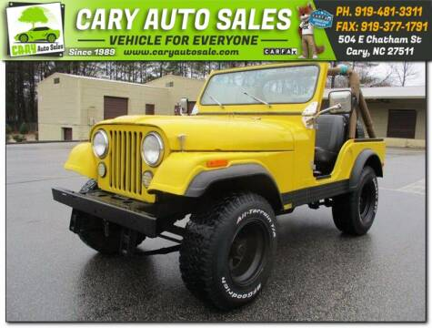 1980 Jeep CJ-5 for sale in Cary, NC