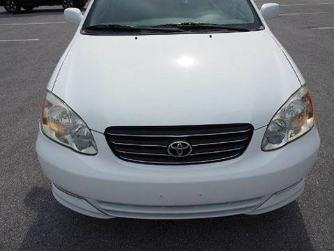 2004 Toyota Corolla for sale at Gulf Financial Solutions Inc DBA GFS Autos in Panama City Beach FL