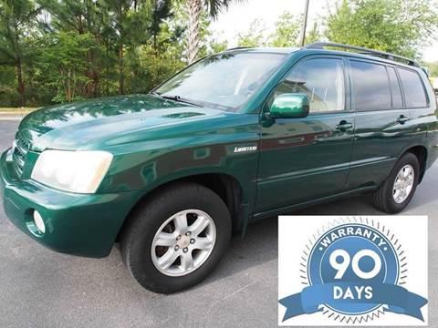 2001 Toyota Highlander for sale at Gulf Financial Solutions Inc DBA GFS Autos in Panama City Beach FL