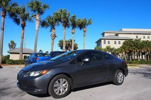2012 Honda Civic for sale at Gulf Financial Solutions Inc DBA GFS Autos in Panama City Beach FL