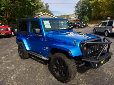 2010 Jeep Wrangler for sale at Bladecki Auto in Belmont NH