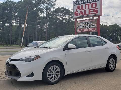 2018 Toyota Corolla for sale at Carafello's Auto Sales in Norfolk VA