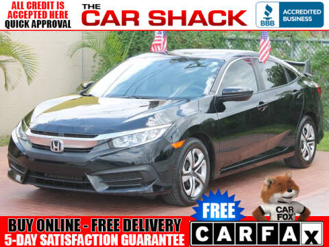 2018 Honda Civic for sale at The Car Shack in Hialeah FL
