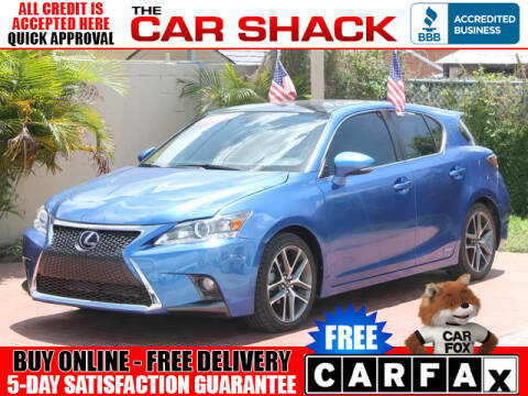 2017 Lexus CT 200h for sale at The Car Shack in Hialeah FL