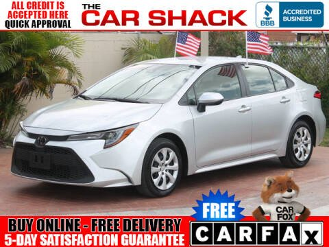 2020 Toyota Corolla for sale at The Car Shack in Hialeah FL