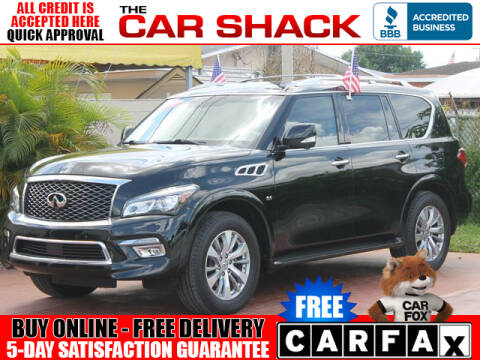 2016 Infiniti QX80 for sale at The Car Shack in Hialeah FL