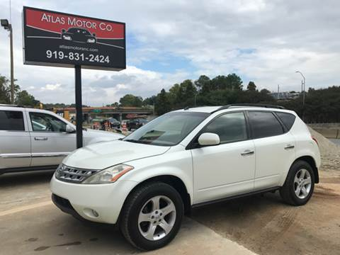 2003 Nissan Murano for sale at Atlas Motor Co. in Raleigh NC