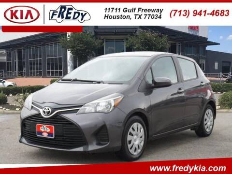 2015 Toyota Yaris for sale at FREDY KIA USED CARS in Houston TX