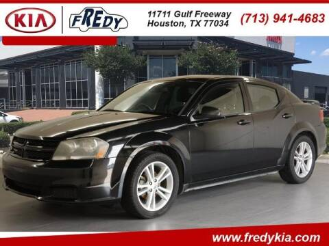 2014 Dodge Avenger for sale at FREDY KIA USED CARS in Houston TX