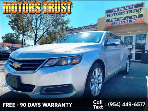 2016 Chevrolet Impala LT for sale at Motors Trust in Miami FL