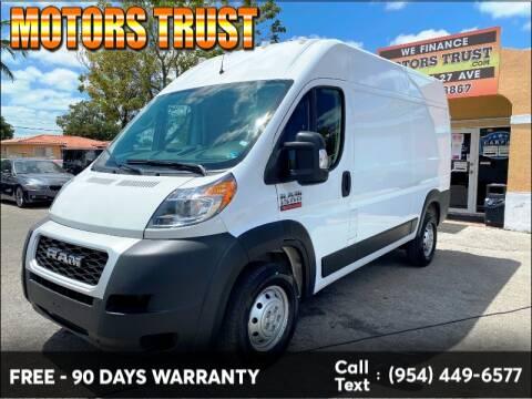 2019 RAM ProMaster Cargo 1500 136 WB for sale at Motors Trust in Miami FL