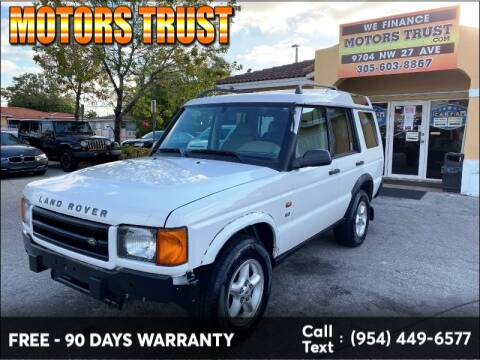 2002 Land Rover Discovery Series II SD for sale at Motors Trust in Miami FL