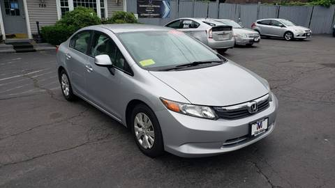 2012 Honda Civic for sale in West Bridgewater, MA