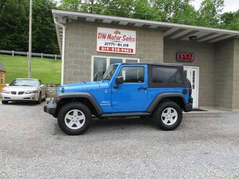 2012 Jeep Wrangler for sale in Punxsutawney PA