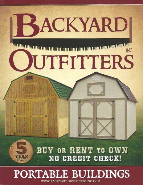 BACKYARD OUTFITTERS PORTABLE for sale at D W Motor Sales in Punxsutawney PA