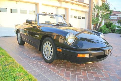 1990 Alfa Romeo Spider for sale at Newport Motor Cars llc in Costa Mesa CA