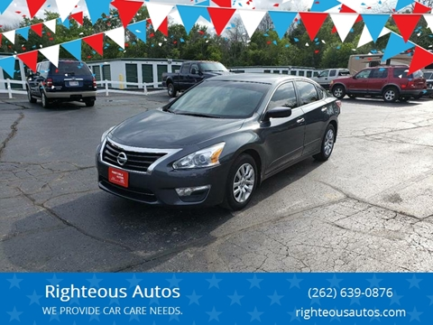 2013 Nissan Altima for sale at Righteous Autos in Racine WI