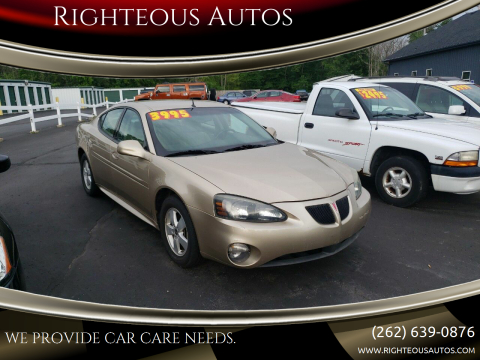 2005 Pontiac Grand Prix for sale at Righteous Autos in Racine WI