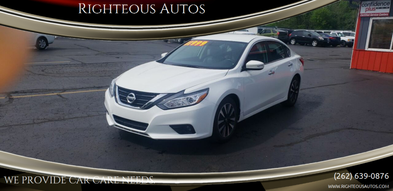 2018 Nissan Altima for sale at Righteous Autos in Racine WI