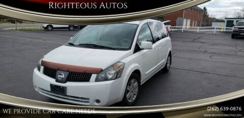 2004 Nissan Quest for sale at Righteous Autos in Racine WI