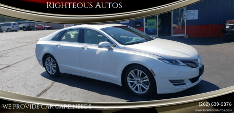 2014 Lincoln MKZ for sale at Righteous Autos in Racine WI