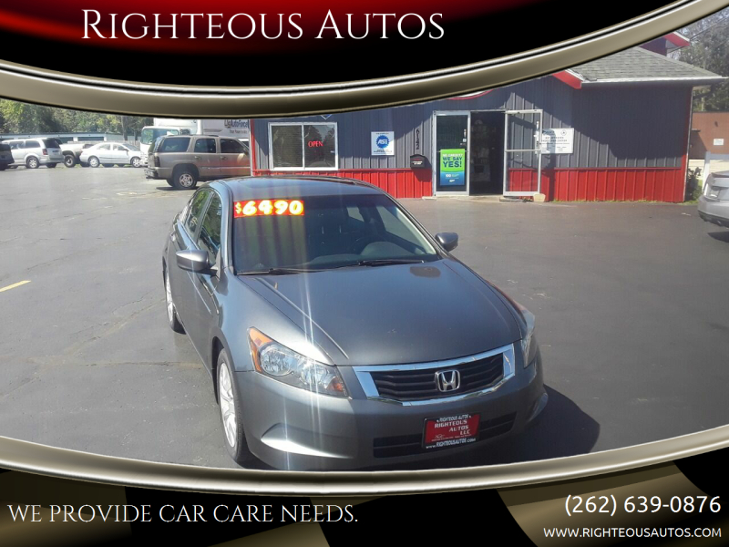 2009 Honda Accord for sale at Righteous Autos in Racine WI