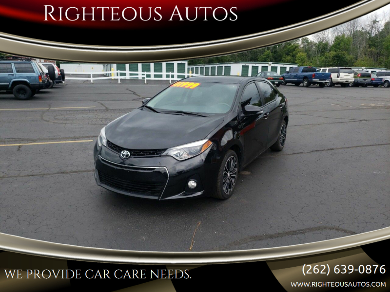 2014 Toyota Corolla for sale at Righteous Autos in Racine WI