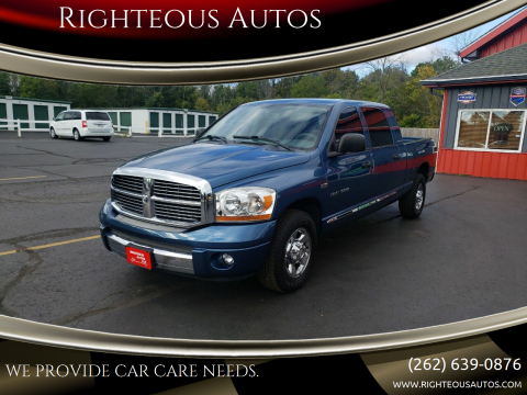 2006 Dodge Ram Pickup 1500 for sale at Righteous Autos in Racine WI