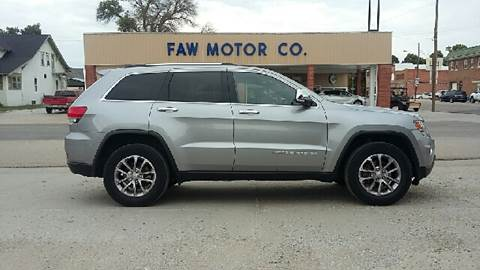 2016 Jeep Grand Cherokee for sale at Faw Motor Co in Cambridge NE