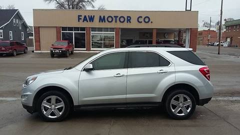 2016 Chevrolet Equinox for sale at Faw Motor Co in Cambridge NE