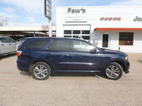 2013 Dodge Durango for sale at Faw Motor Co in Cambridge NE