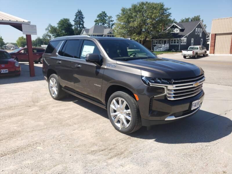 2021 Chevrolet Tahoe for sale at Faw Motor Co in Cambridge NE